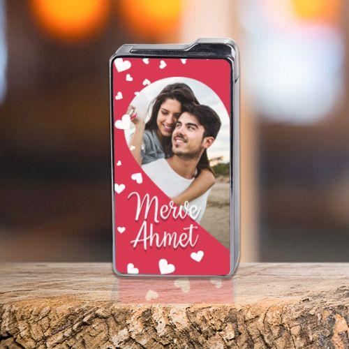 Sevgililer Gününe Özel Fotoğraflı Çakmak