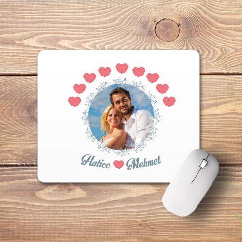 Sevgililere Özel Fotoğraflı Mouse Pad
