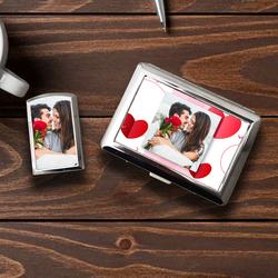 Sevgiliye Hediye Fotoğraf Baskılı Sigara Tabakası Çakmak Seti - Thumbnail