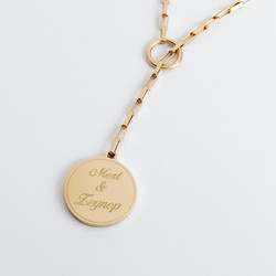 Sevgiliye Hediye İsimli Altın Kolye - Thumbnail