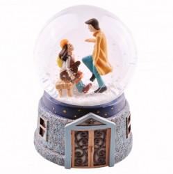 Sevgiliye Hediye Romantik Kar Küresi - Thumbnail