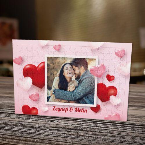 Sevgiliye Özel Fotoğraflı Puzzle