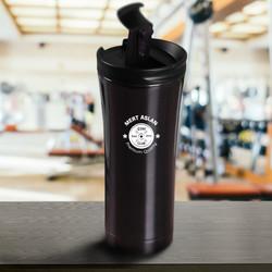 Sporculara Hediye Gym Tasarımlı Kişiye Özel Shaker Termos - Thumbnail