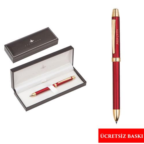 Steelpen 3 Fonksiyonlu Kalem Seti Kırmızı